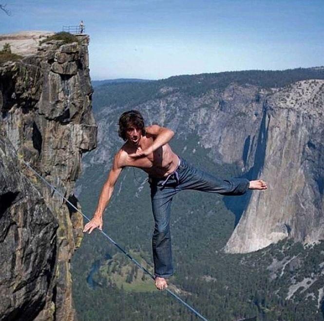 Dean Potter Climbing Base Jumping Slack Lining