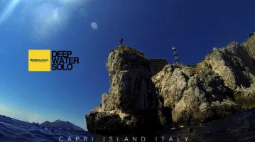 Capri Deep Water Solo Climbing