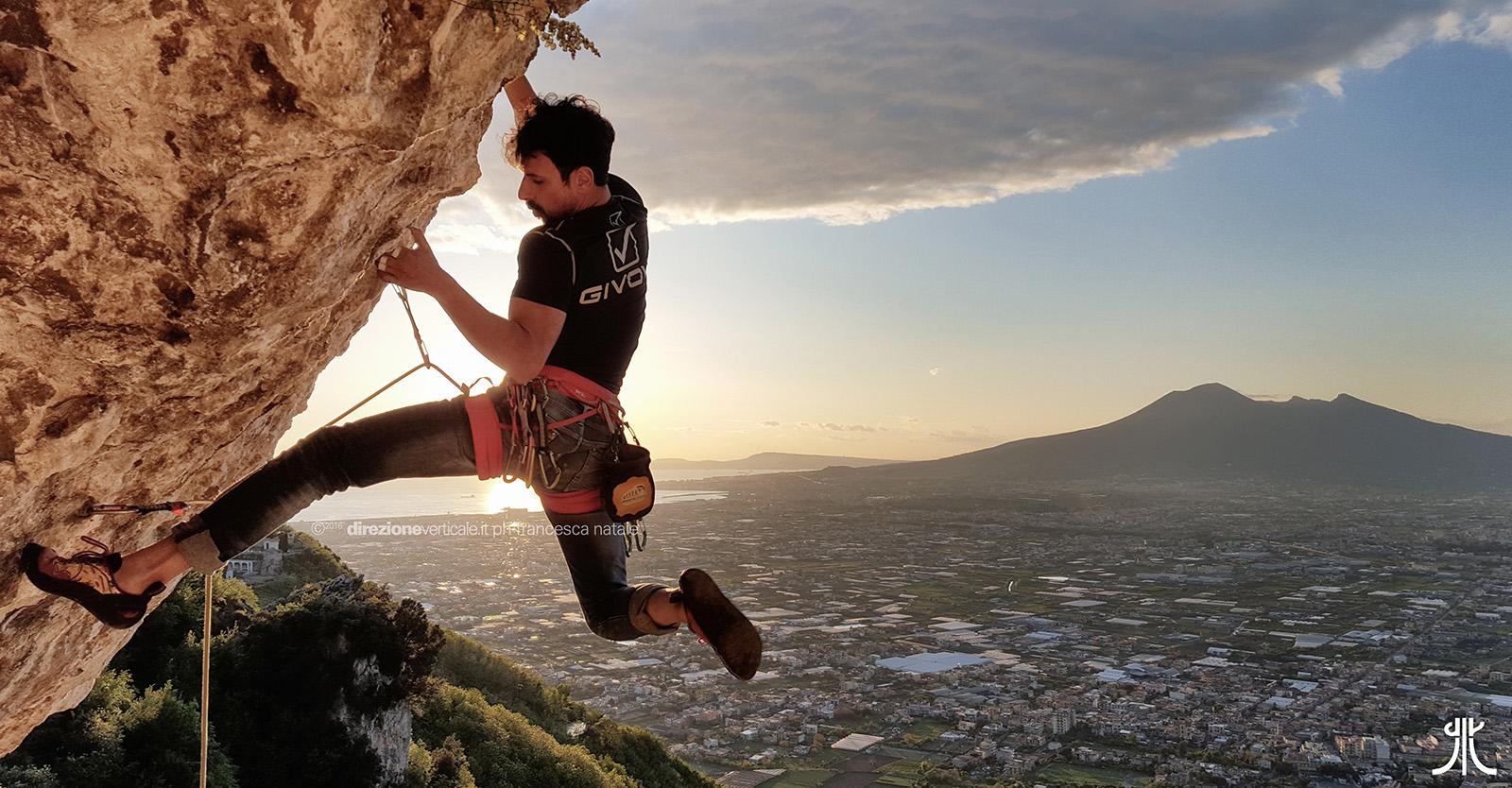 Lettere Crag Climbing Vesuvius Naples