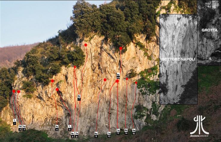 topos vie settore vesuvio lettere napoli arrampicata