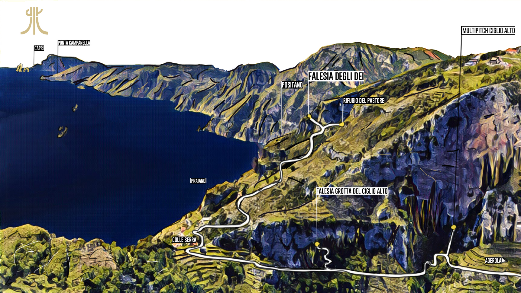 (Italiano) climbing retreat sentiero degli dei – path of the gods @ sheperd huts oct 21