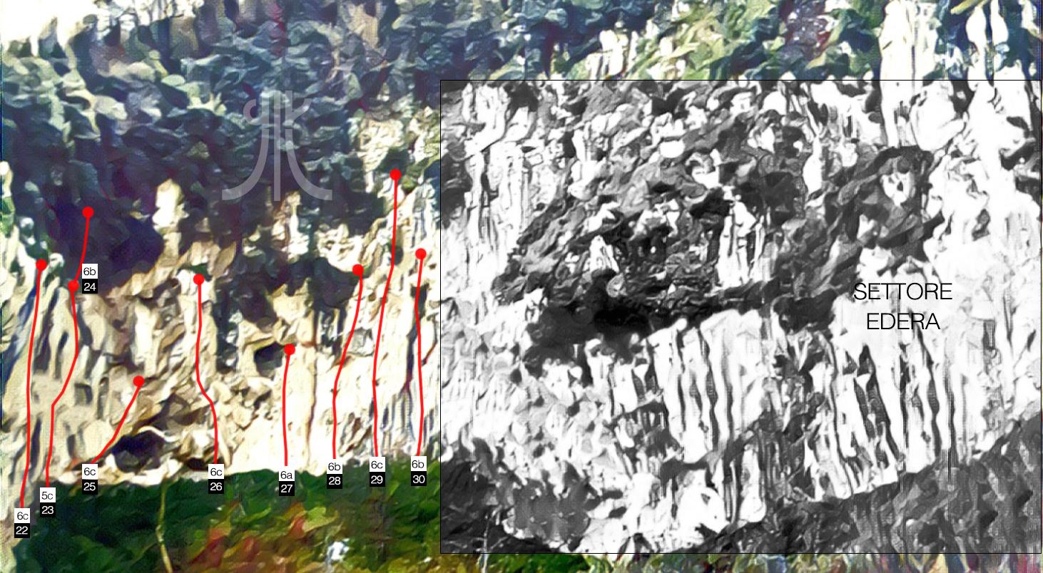 topos settore grotta san benedetto lettere napoli pompei climbing arrampicata escalade klettern klatring escalada
