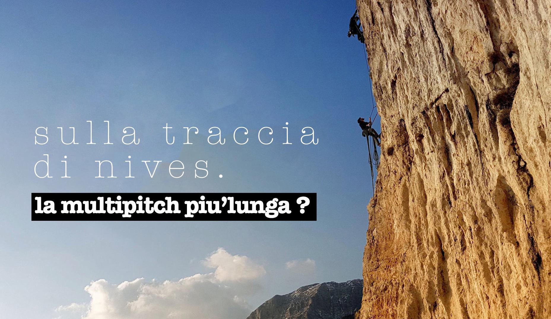 (Italiano) sulla traccia di nives multipitch climbing in costiera amalfitana