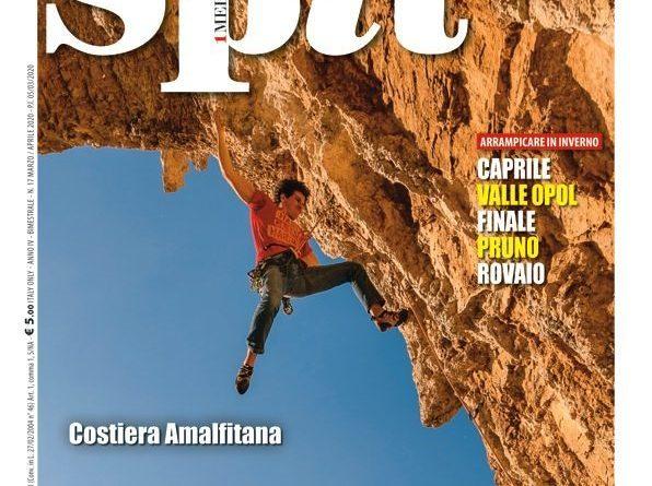(Italiano) il nostro allievo Andrea Sodano in copertina su spit 17 climbing magazine