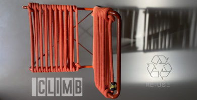 (Italiano) RE-cycling climbing ropes by DV and Francesca Natale Designer