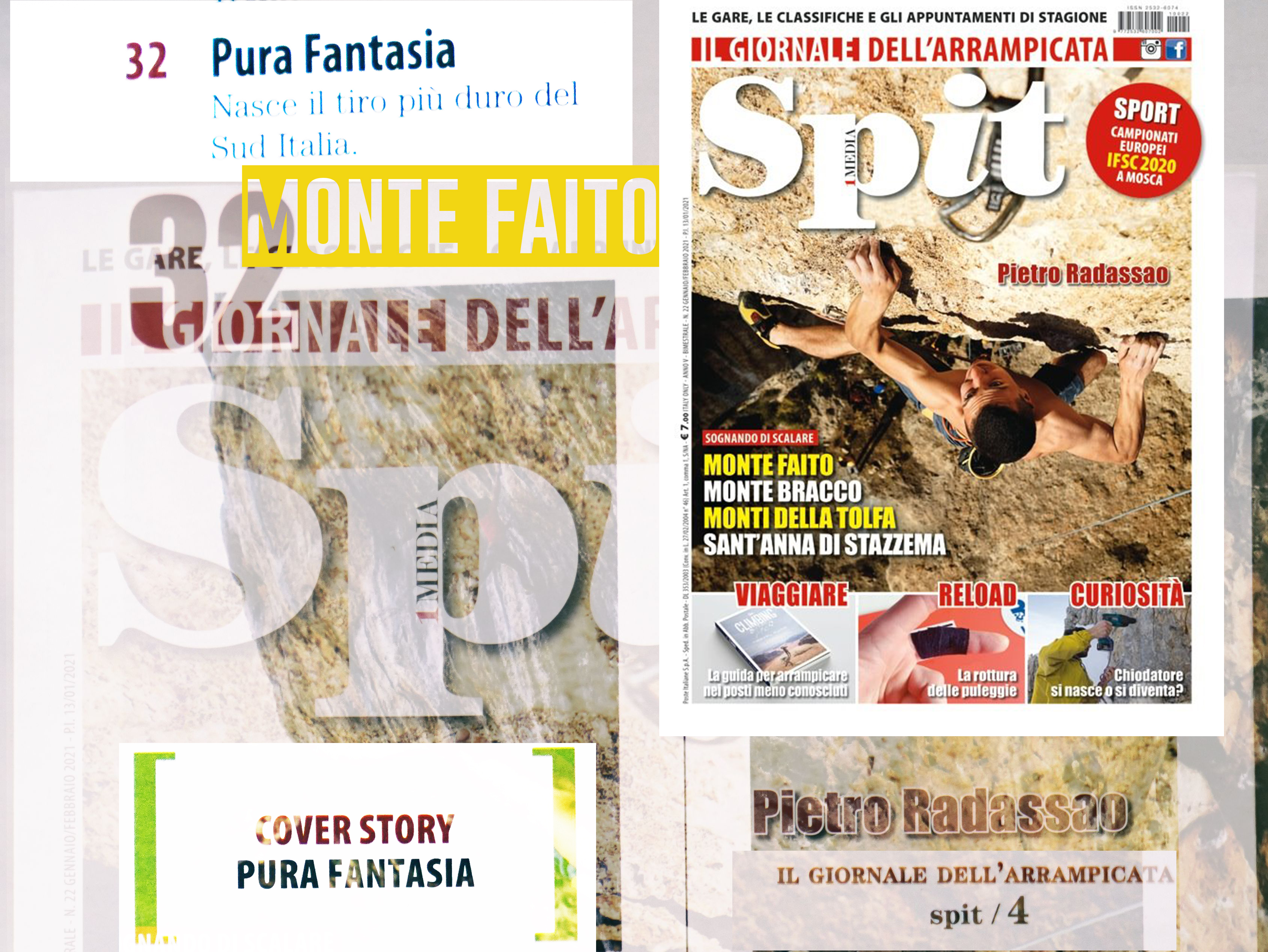 (Italiano) PURA FANTASIA 8C la via più dura…Andrea Sodano Per Spit Magazine