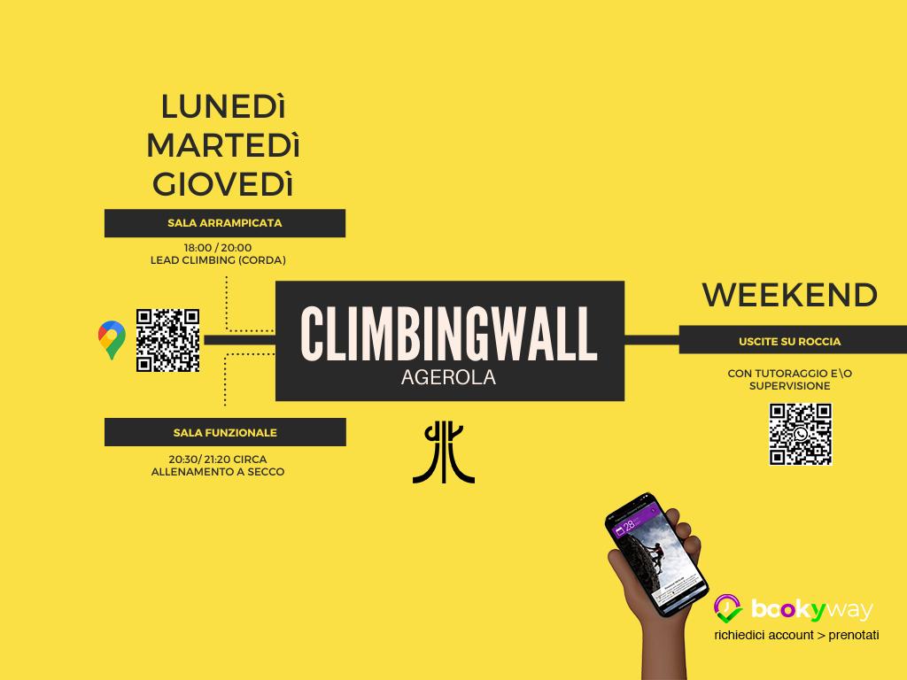 orari palestra e attività arrampicata climbing wall agerola